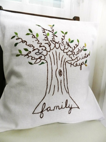 Personalized Family Tree Cushion