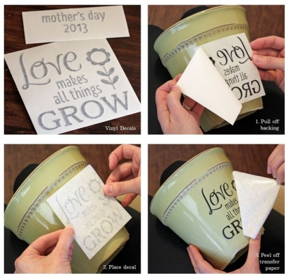 Mother's Day Flower Pot Decal