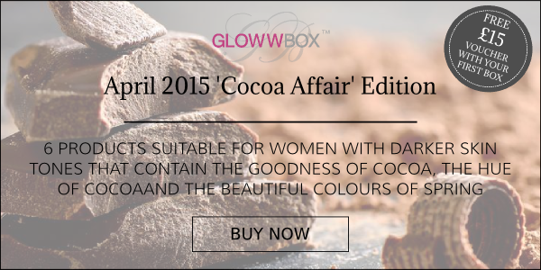 Join today and receive the April 2015 Cocoa Affair GlowwBox